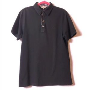 Burberry London Mion Black Polo Shirt Size XL